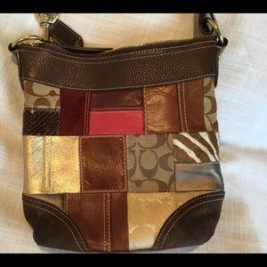 Coach shoulder patchwork bag